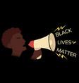 black live matters social poster graphics vector image