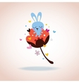 bunny character in love vector image vector image