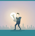 business man new creative idea concept hold light vector image vector image
