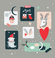 christmas and new year holidays design elements vector image vector image