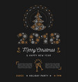 christmas party poster and new year 2018 card vector image