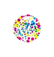 colored blots cmyk vector image