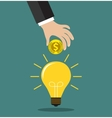 concept for crowdfunding investing into ideas vector image