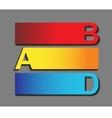 creative alphabet vector image vector image