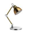 desk lamp realistic metal office lighting vector image vector image