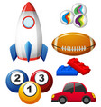 Different types of toys vector image