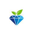 eco diamond logo icon design vector image