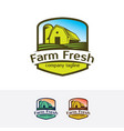 farm fresh logo design vector image vector image