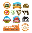 farm labels vector image vector image