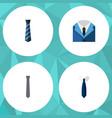 flat icon necktie set of collar suit necktie and vector image vector image