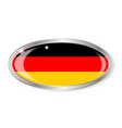 german flag oval button vector image vector image