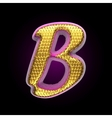 golden and pink letter b vector image vector image
