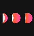 gradient 3d circle sticker vector image vector image