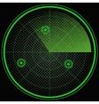 Green radar screen pop art style vector image