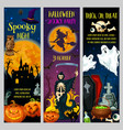 halloween horror night party banners vector image vector image