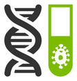 hitech microbiology flat icon vector image