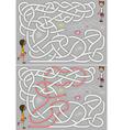 Hopscotch maze vector image