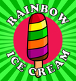 ice cream in the colors of rainbow vector image