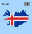 iceland map border with flag eps10 vector image