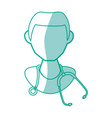 isolated doctor face vector image