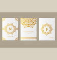 luxury gold artistic flyer 3x4 with unique vector image vector image