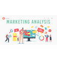 marketing analysis landing page template email vector image vector image