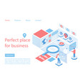 marketplace business perfect place landing page vector image vector image