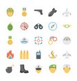 military and weapons icons vector image