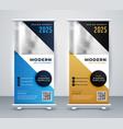 modern roll up standee banner design vector image vector image