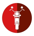 motorcyle speed transport steel red circle vector image