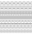 ornate seamless borders in Eastern style Line art vector image
