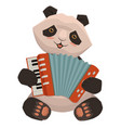 panda plays accordion cartoon image isolated vector image