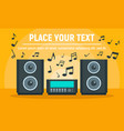 play music stereo system concept banner flat vector image vector image