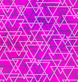 purple color triangle seamless pattern vector image vector image