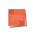 quote text box rectangle bubble for comment mark vector image vector image