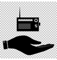 Radio sign Flat style icon vector image vector image