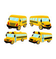 school bus template isolated design set vector image