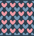 seamless heart pattern valentines day vector image vector image