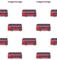 seamless pattern of the classic red double-decker vector image vector image