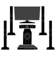 Set HI-FI Household appliances TV and audio vector image