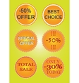 Set of offer labels vector image vector image