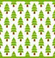 simple hand drawn seamless christmas pine vector image vector image