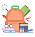 supplies school design flat style vector image