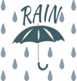 T-shirt rain vector image vector image