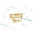 Thank you text on abstract background vector image