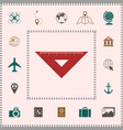 the ruler triangle icon elements for your design vector image