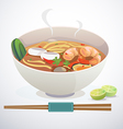 tom yum noodle vector image vector image