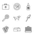 Treatment of animals icons set outline style vector image vector image