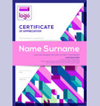 vertical modern certificate completion vector image