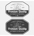 Vintage logos labels and badges Plumbing Heating vector image